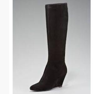 Giuseppe Zanotti Tall suede wedge boots 37